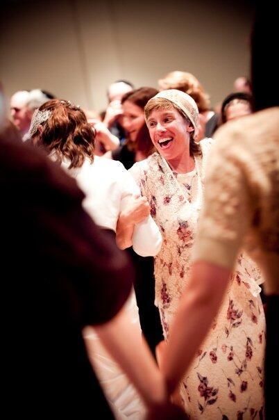 Melissa Scholten-Gutierrez dancing with her emma