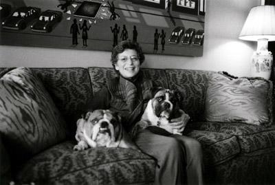 Barbara Dobkin with her dogs
