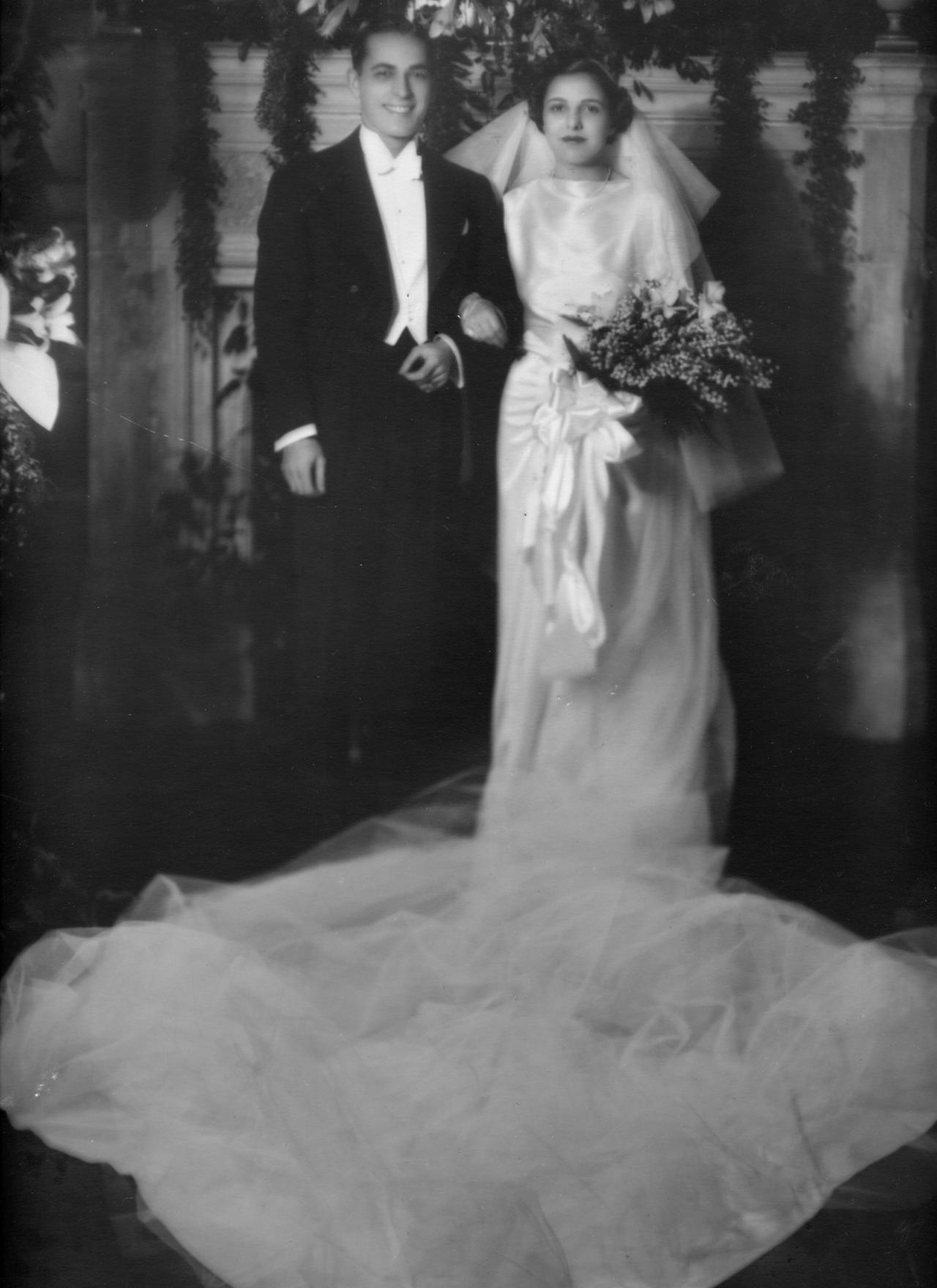 Edna and Paul Barrabee's wedding