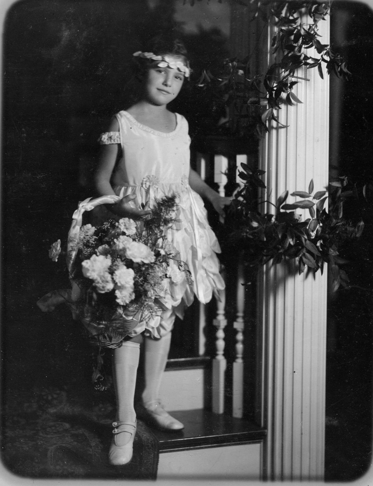 Edna Grace as a flower girl