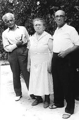 Goldman with Modest Stein (left) and Alexander Berkman, St. Tropez