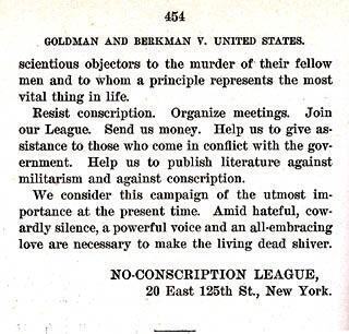Manifesto of the No-Conscription League