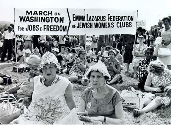 The Emma Lazarus Federation of Jewish Women's Clubs at the March on Washington