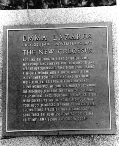 Grave Marker for Emma Lazarus, Cypress Hill Cemetery