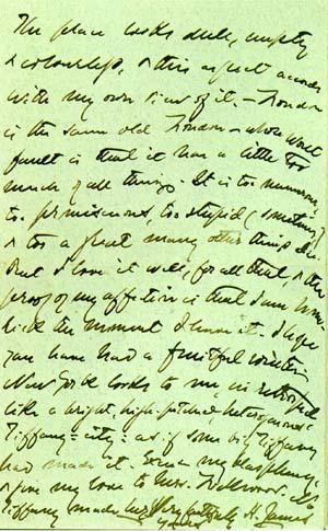 Letter from Henry James to Emma Lazarus