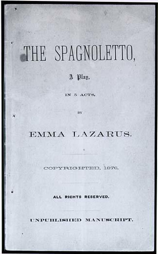 Cover page for The Spagnoletto
