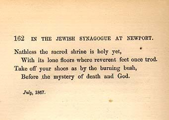 In the Jewish Synagogue at Newport
