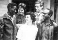 SNCC Southwest Georgia Project Members Agnew James, Penny Patch, Faith S. Holsaert, Larry Rubin, and Charles Sherrod