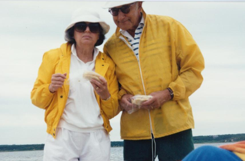 Flip and Herman Imber on Martha's Vineyard, late 1980s