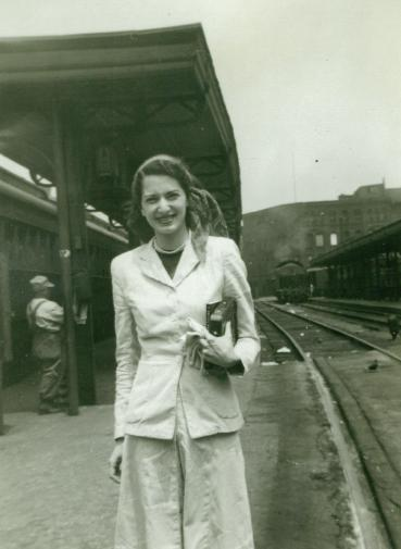 Flip Imber at a Train Station, circa the 1940s