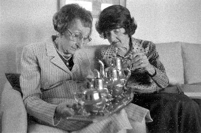 Ruth Jungster Frankel Having Tea