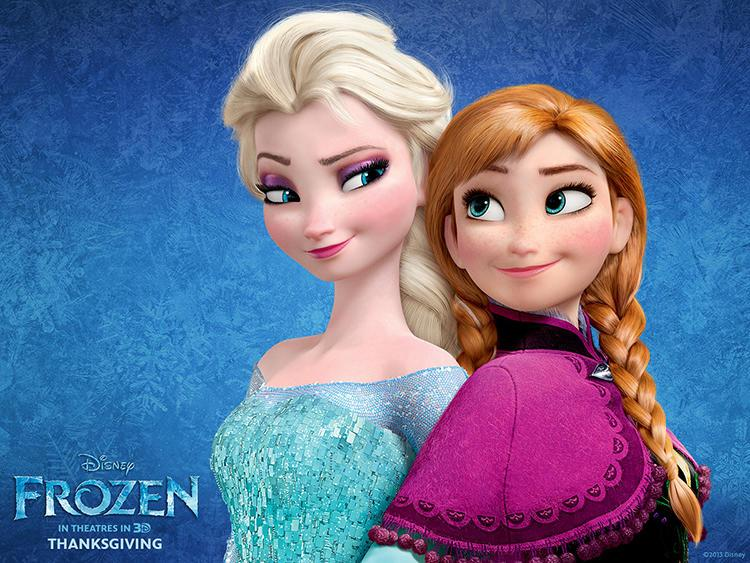 "Anna and Elsa of ""Frozen"""