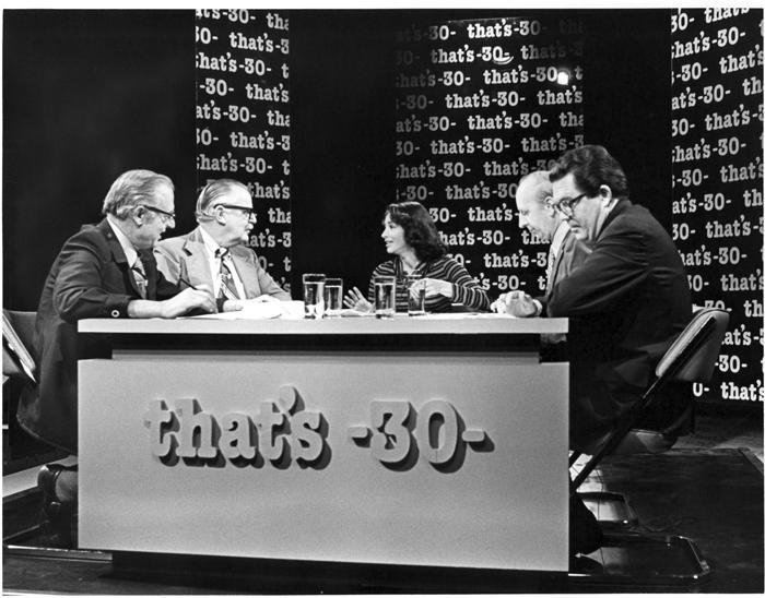 "Gloria Penner Moderating ""That's 30,"" 1976"