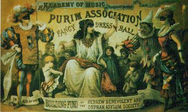 Invitation to Fancy Dress Ball - Purim Association of the City of New York