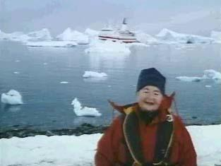 Gertrude Elion in Antarctica, on one of her many trips