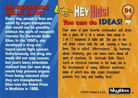 Way Cool Scientist trading card featuring Gertrude Elion
