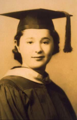 Gertrude Elion's college graduation photograph