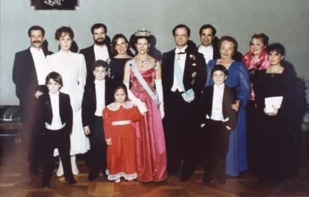Gertrude Elion, her Family, and the Swedish Monarchs at the Nobel Prize Ceremony, 1988