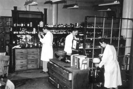 Gertrude Elion and Colleagues in Burroughs Wellcome Laboratory, 1948