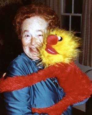 Gertrude Elion and Muppet circa 1982