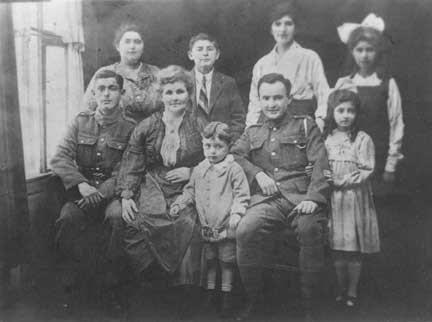 Lily Shiel (Sheilah Graham) with Family circa 1918