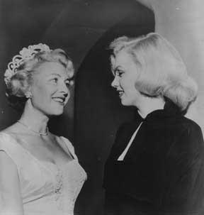 Sheilah Graham and Marilyn Monroe in Beverly Hills, 1953