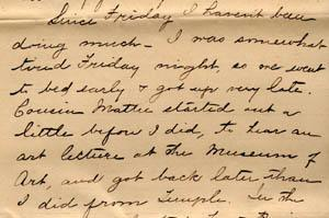 Letter from Gertrude Weil to her family, March 29, 1896 - excerpts