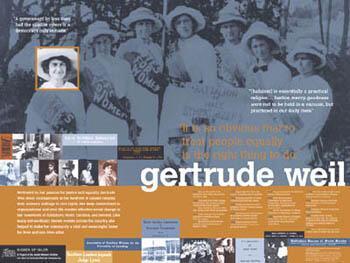 Gertrude Weil poster