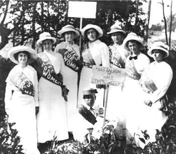 Gertrude Weil (far left), with other prominent North Carolina suffragists