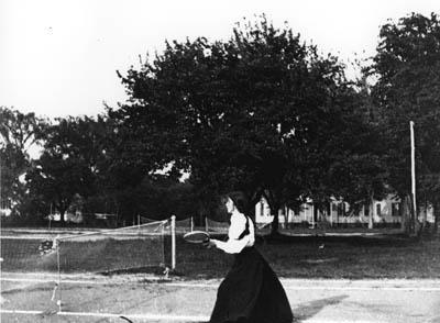 Gertrude Weil Plays Tennis circa 1900