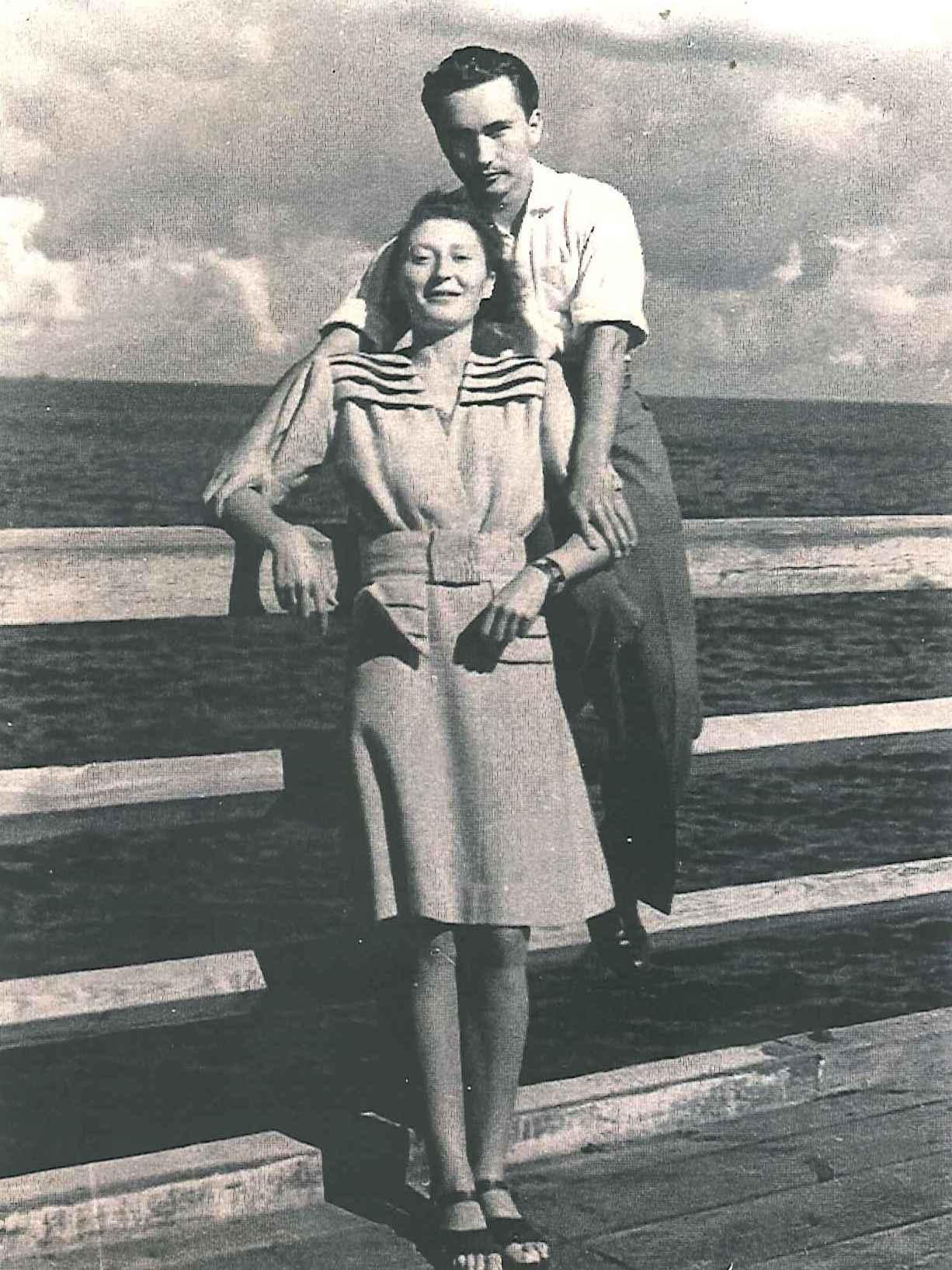 Helen and Stefan Mahut in Sopot, Poland, 1945