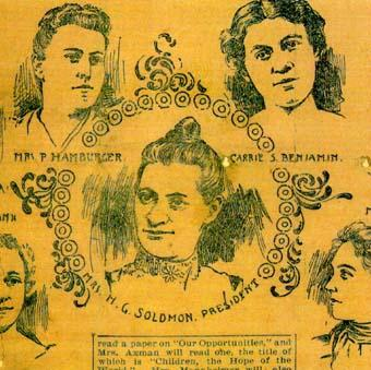 Newspaper's Sketch of Council Women