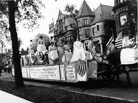 """Sane 4th"" Parade of Suffragists, July 4"