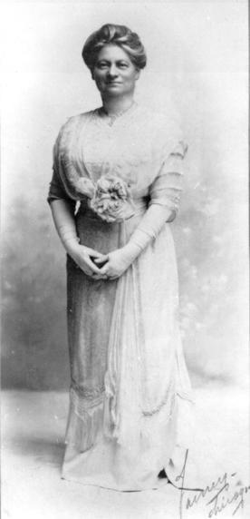 Hannah Greenebaum Solomon in White Gown
