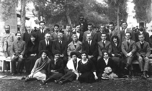 Administrative staff of the Hadassah Medical Organization, Jerusalem, 1922
