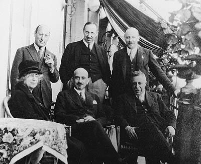 Henrietta Szold with Zionist leaders at the Basel Zionist Congress, 1927