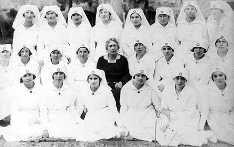 Henrietta Szold and the First Graduating Class of  Hadassah Nurses Training School, 1921