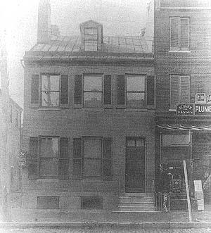 Szold family residence on Eutaw Street in Baltimore, 1864