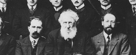 Louis Ginzberg, Solomon Schechter, and Israel Friedlaender, members of the Jewish Theological Seminary faculty, c. 1909