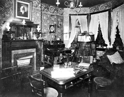 Parlor of the Szold home on Lombard Street, 1897
