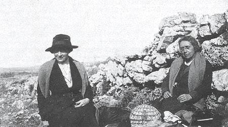 Picnicking at Ramallah, 1920