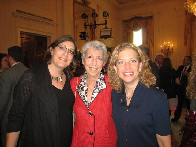 Gail T. Reimer with Debbie Wasserman Schultz at the 2012 Jewish American Heritage Month White House reception