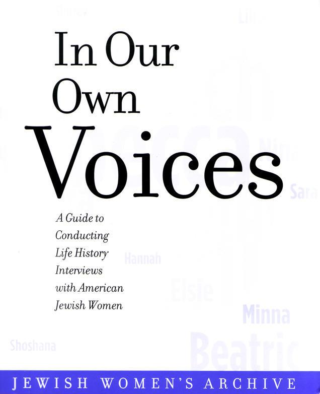'In Our Own Voices' cover