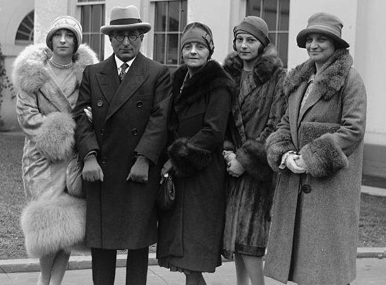 Irene Mayer Selznick and Family at the White House, February 3, 1927