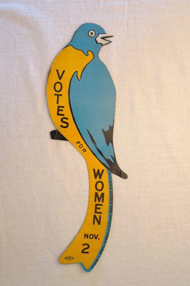 """""""Votes for Women"""" Parrot Pin from the Ann Lewis Collection"""