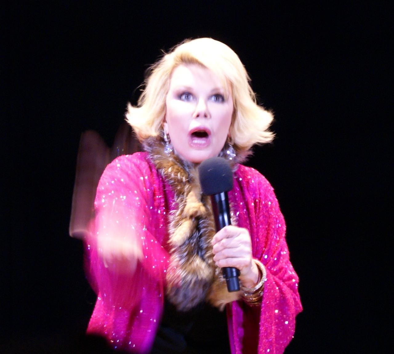 Joan Rivers performing in 2009