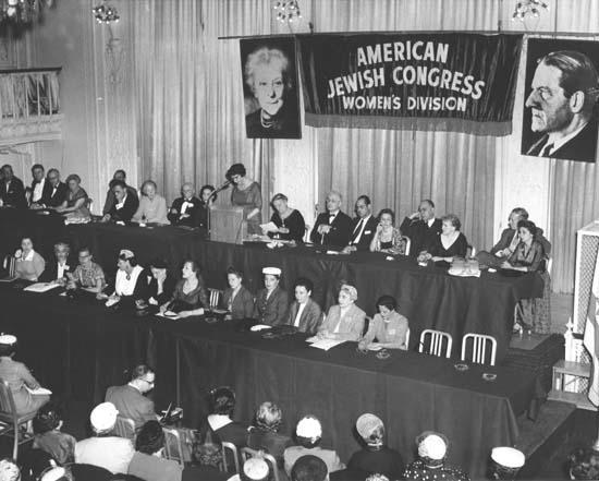 Judge Justine Polier at the American Jewish Congress Women's Biennial Convention, April 1956