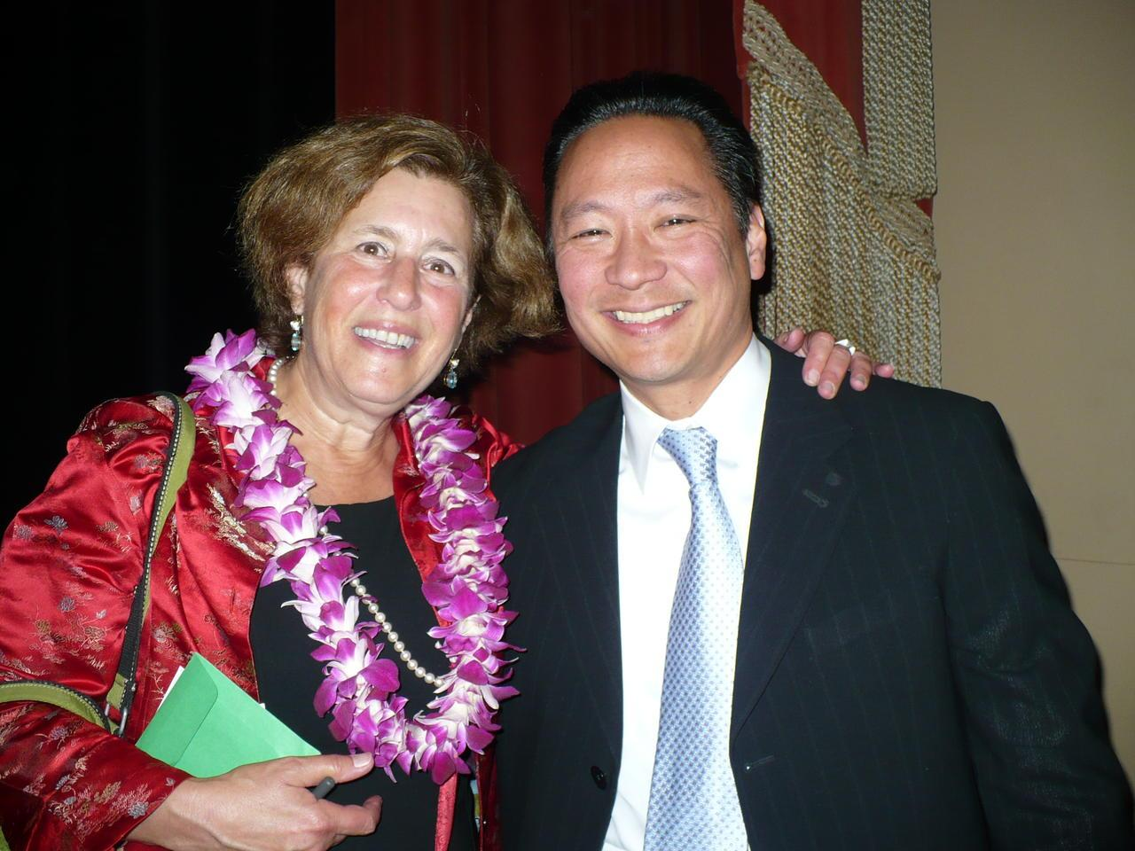 Lani Silver with SF City Supervisor Eric Mar, 2008