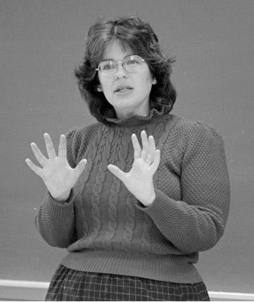 Lynn Gordon teaching 1983