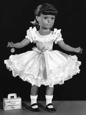 One of the early African-American dolls produced by the Alexander Doll Company